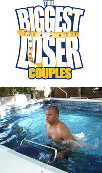 The Biggest Loser Couples: Sam from Season 9 using the endless pool