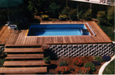 Above Ground Deck Swimming Pools
