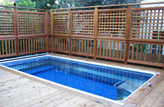 Inground Deck Pools Photo
