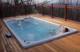 Inground Deck Swimming Pool