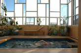 Inground Sunroom Swimming Pools
